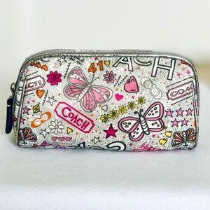 Coach Poppy Graffitti Butterfly Bandana Makeup Bag